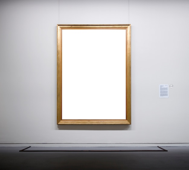 Empty frame in the museum