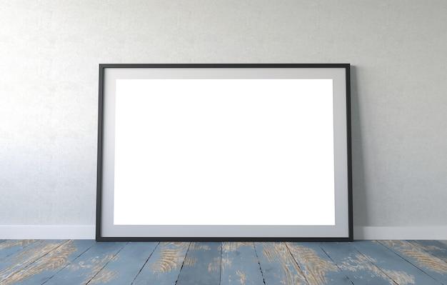 빈 프레임 포스터 모형. 3d 일러스트레이션