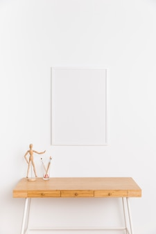 Empty frame with table and figure