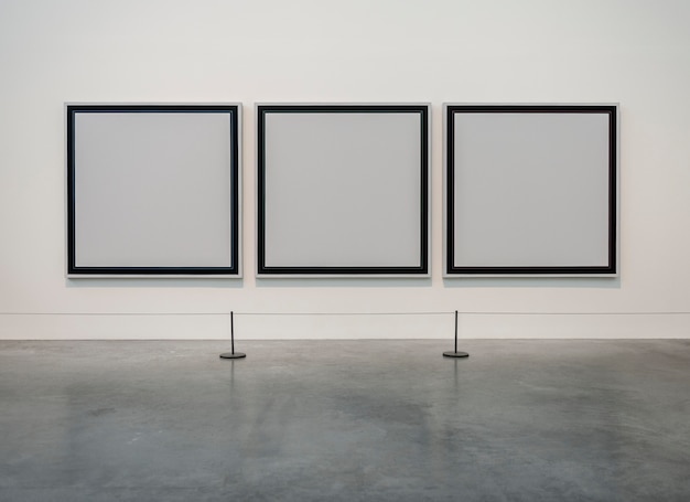 Empty frames at a gallery