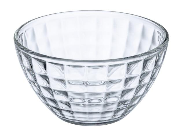 Пустая стеклянная миска изолирована