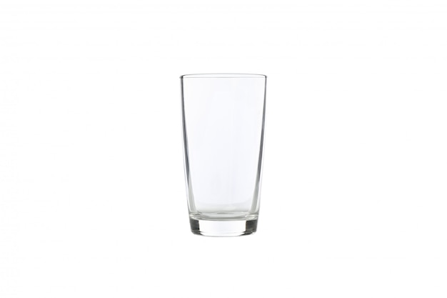 Empty glass isolated on white. it clear and purity