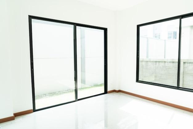 Empty glass window and door in home