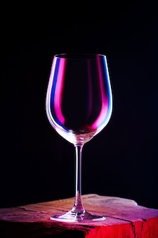 Empty glass for a wine