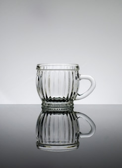 Empty glass with seem less background