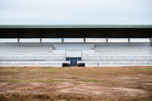 Empty grandstand for sports cheer