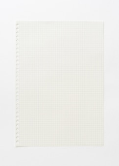 Empty graph paper background. white paper template for art, drawing, idea sketch and creative background. close-up.