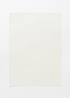 Пустой фон миллиметровой бумаги. шаблон белой бумаги для искусства, рисования, эскиза идеи и творческого фона. крупный план.