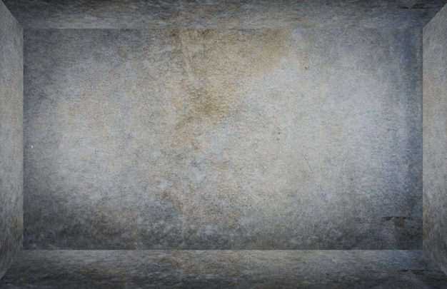 Empty gray cement room box texture for product display