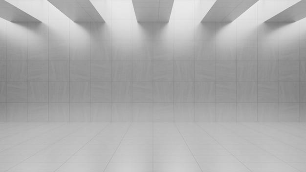 Empty gray concrete room