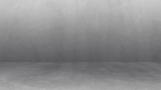 Пустая серая стена комната фон интерьеры студия бетонный фон и пол цемент
