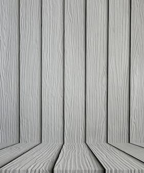 Vuoto sfondo grigio pavimento di legno