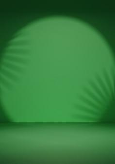 빈 녹색 및 그림자 스포트라이트 배경