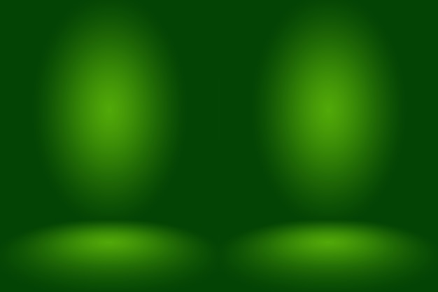 Lo studio verde vuoto utilizza bene come sfondo, modello di sito web, cornice