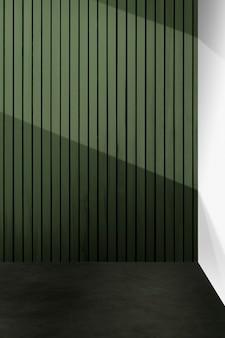 Mockup di parete verde vuota design d'interni japandi