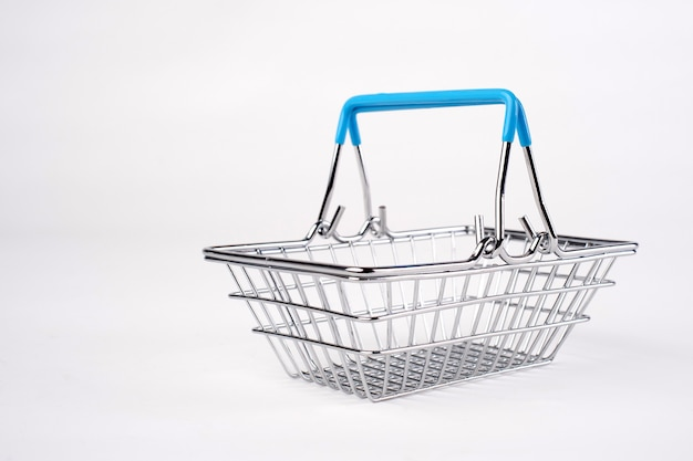 Empty grocery shopping basket. isolated