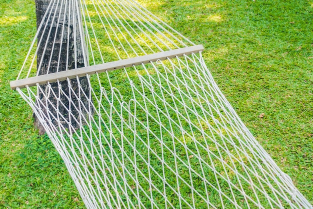 Empty hammock in the garden