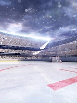 Empty hockey arena background