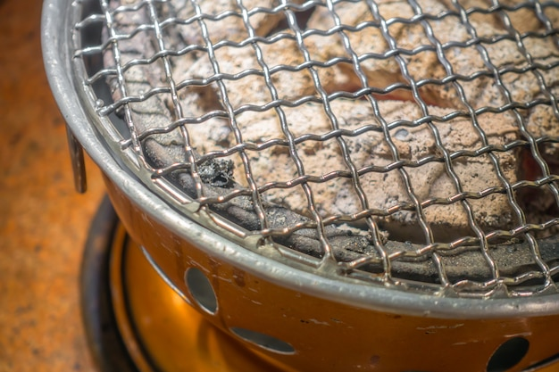 Empty hot barbecue grill .