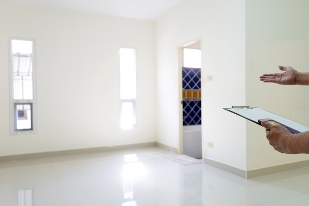 Empty house and blank room