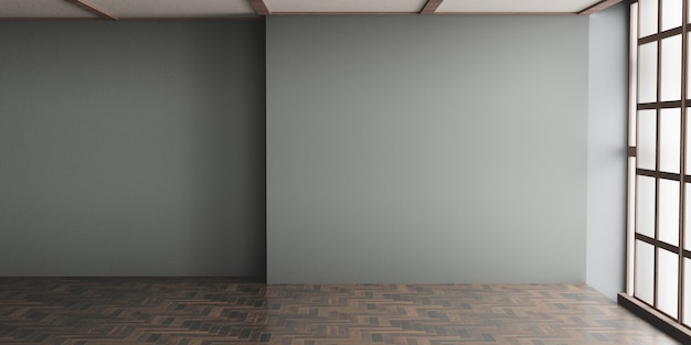 Empty interior background. 3d illustration