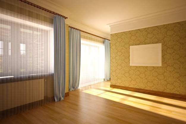 Empty interior in classic style