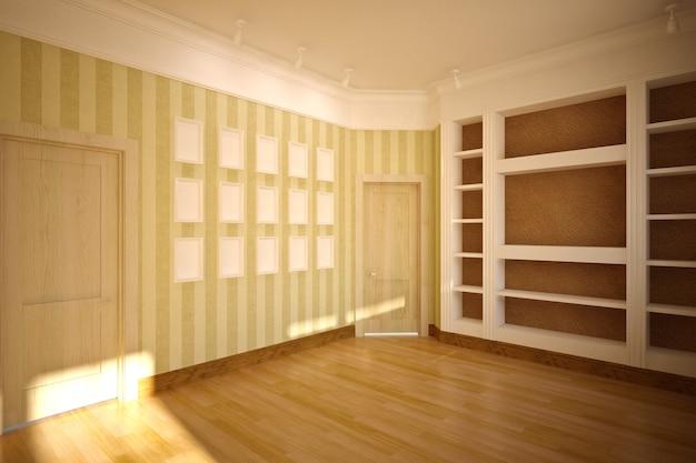 Пустой интерьер в классическом стиле