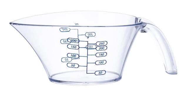 Пустой кухонный стакан, изолированные на белом фоне