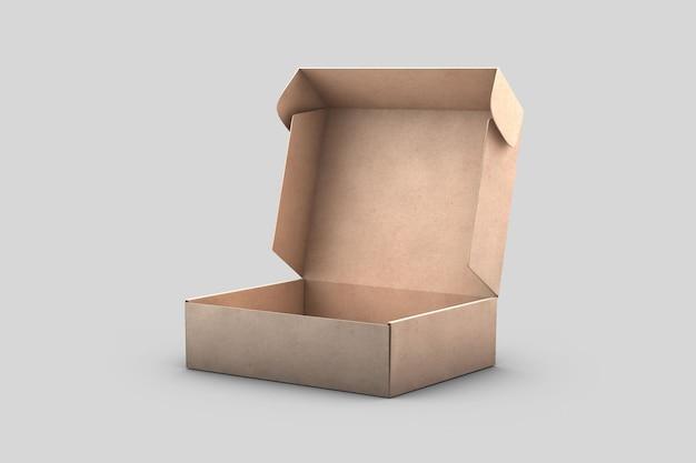 Empty kraft cardboard shipping box