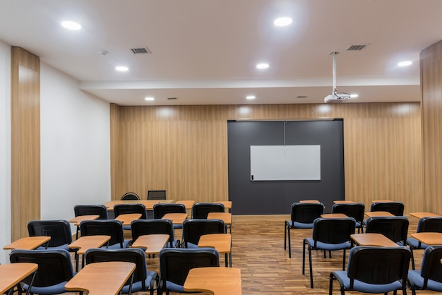 Empty lecture, training and presentation room. classroom