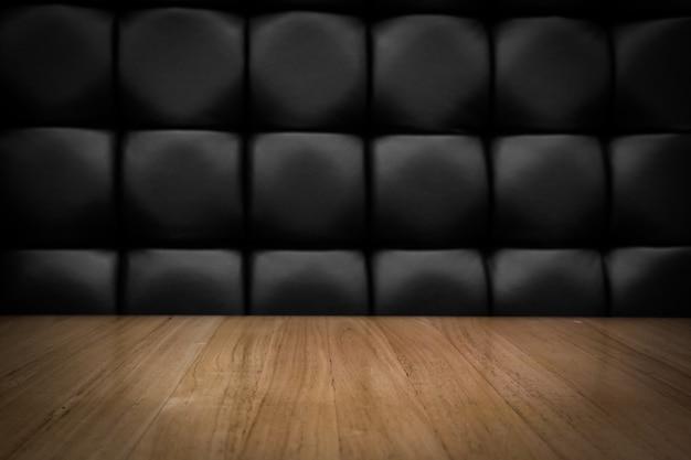 Пустой светлый цветной деревянный верхний стол с подсветкой фокуса и винтажный стиль