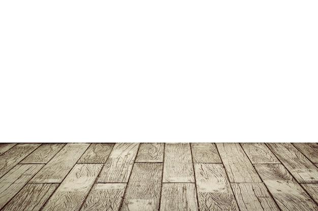 Изолировать столешницу пустой светлый деревянный стол на белом фоне