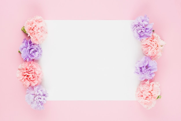 Empty list with flowers on sides