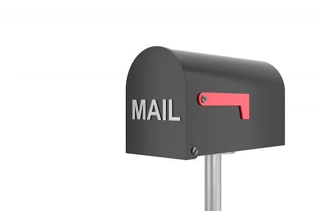 Empty mailbox. 3d rendering.