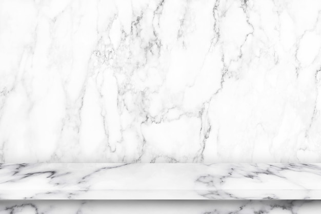 Empty marble table with marble texture