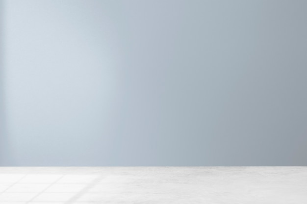 Empty minimal room interior design with pastel blue wall