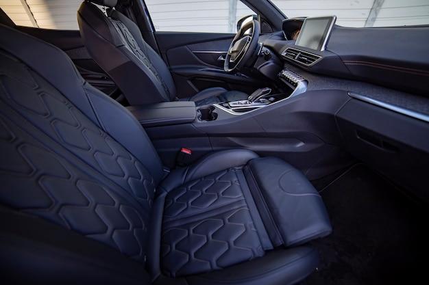Empty modern car interior front seat
