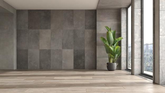 Пустой современный интерьер комнаты 3 d иллюстрации