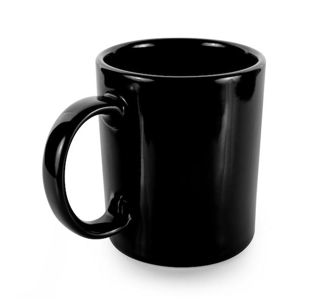 白地に空のマグカップ