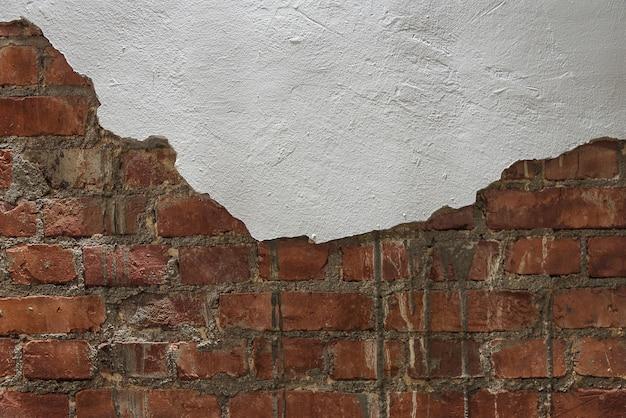 빈 오래 된 벽돌 벽 텍스처입니다. 추상 웹 배너입니다. 공간을 복사하십시오.