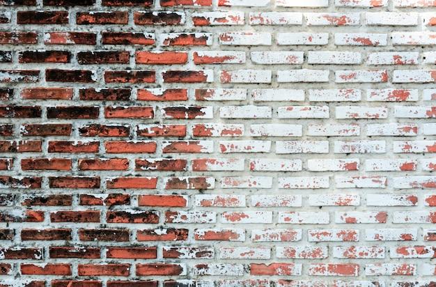 Пустая старая предпосылка текстуры кирпичной стены с космосом экземпляра. пилинг гипсовой текстуры. старинный фон кирпичной стены.