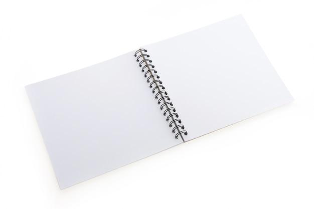 Empty open notebook
