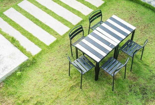 Empty outdoor patio chair