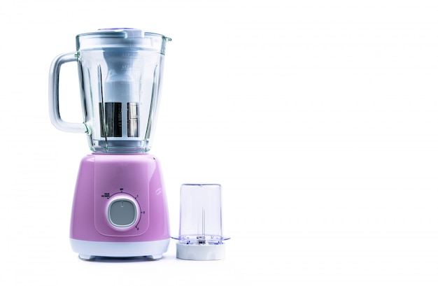 Empty pastel purple electric blender with filter, toughened glass jug, dry grinder and speed selector