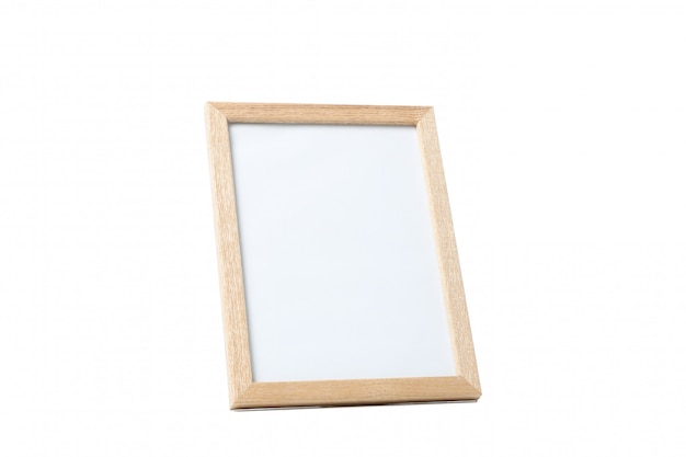 Empty photo frame isolated on white