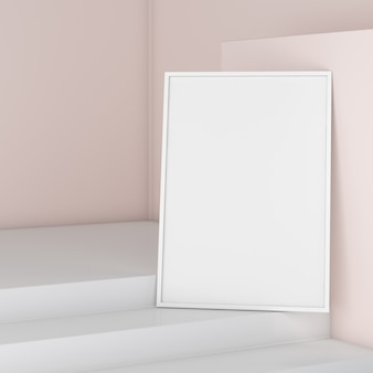 Empty photo frame mock up
