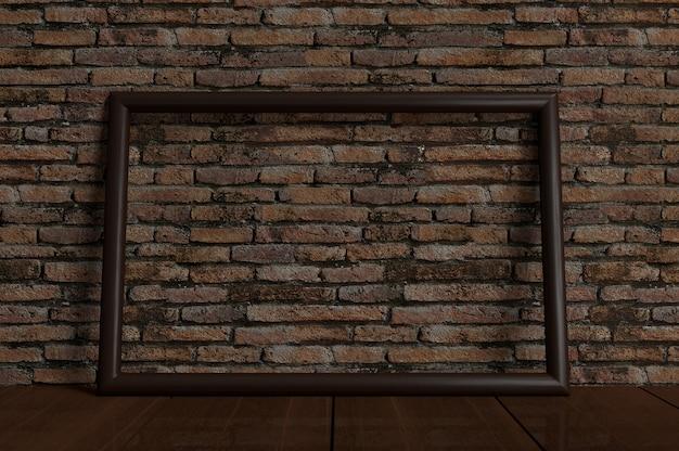 Empty photo frame mock-up