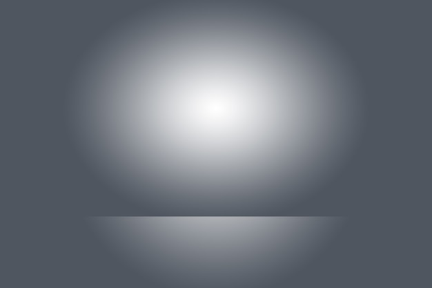 Empty photographer studio background abstract, background texture of beauty dark and light clear blue, cold gray, snowy white gradient flat wall and floor.
