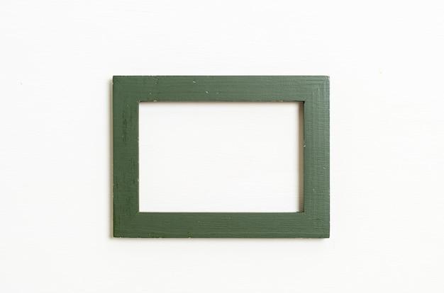 Пустая рамка на белом фоне стены с копией пространства