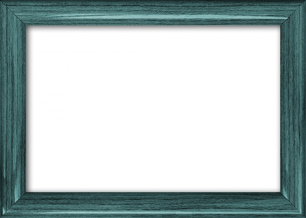 Empty picture frame with a free place inside, isolated on white